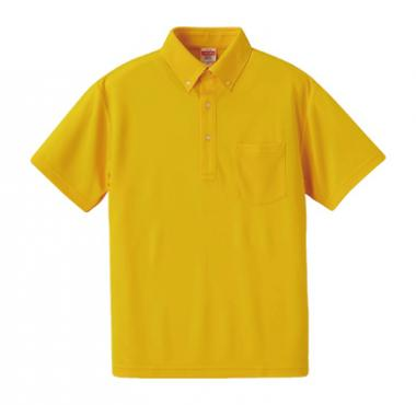 ドライアスレチックポロシャツ(ボタンダウン)(ポケット付き)