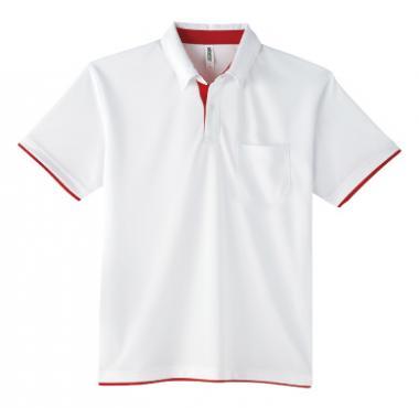 ドライレイヤードボタンダウンポロシャツ(ポケット付)