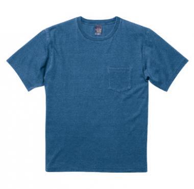 インディゴTシャツ(ポケット付)