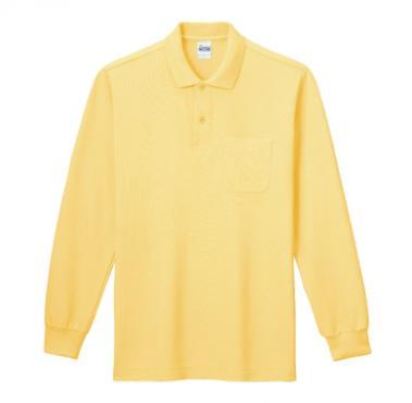 T/C長袖ポロシャツ(ポケット付き)